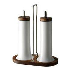 CELEBER 3-piece oil/vinegar set, acacia, white. Ikea!