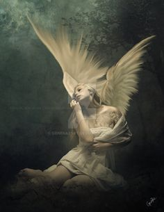 ArtStation - The Angel of the Earth, Gene Raz von Edler Artist. Angels Among Us, Angels And Demons, Dark Angels, Fallen Angels, Elfen Tattoo, Angel Artwork, I Believe In Angels, Ange Demon, Angel And Devil