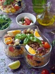 Az otthon ízei: Mediterrán tonhalas tésztasaláta Tacos, Mexican, Meat, Cooking, Ethnic Recipes, Desserts, Food, Kitchen, Tailgate Desserts