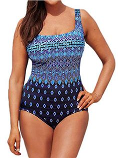 d6bfe87e92 Century Star Women's Plus Size Swimwear Cover up One Piece Slimming Control  Blouson Tankini Swimsuits Gym