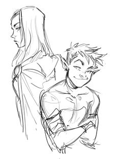 quick night doodle before sleepI'm so excited about the Justice League vs Teen Titans movie ToT!!