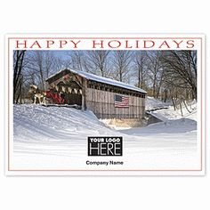 Freedom Bridge Holiday Cards UP13130 | Patriotic Christmas Cards | Deluxe.com