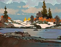 Robert Genn, artist, original landscape paintings at White Rock Gallery Early Larches at Tamarack Glen Landscape Drawings, Landscape Art, Landscape Paintings, Winter Landscape, Landscapes, Canadian Painters, Canadian Artists, Contemporary Landscape, Beautiful Paintings