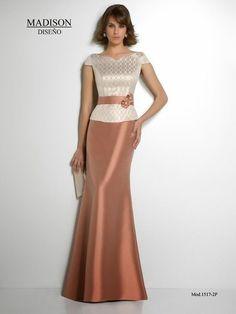 Vestido de madrina, www. Vestido de madrina, www. Stylish Dresses, Elegant Dresses, Pretty Dresses, Beautiful Dresses, Fashion Dresses, Modest Fashion, Mom Dress, Dream Dress, Evening Dresses