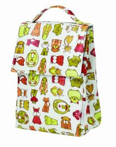 Sugarbooger Laminated Lunch Sack, BowMeow by Sugarbooger. $16.42. Wipe clean, line dry. Card for ID information. Laminated cotton canvas with handle strap. Fully insulated. Hook and loop closure. From the Manufacturer                Colorful, quirky cartoon dogs and cats abound on BowMeow. When off to school or daycare, the laminated cotton canvas BowMeow Lunch Sack is the ideal choice to carry snacks, and features full insulation, a hook-and-loop closure, interior card for ID in...