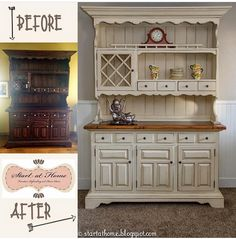 For #moveitupmonday I am sharing one of my favorite hutch refinishes. When I got this hutch it was dark and out of date......But we fixed that!! If you are looking to start refinishing furniture or are stuck at a certain spot we are expanding our website in the next few weeks to include in depth tutorials to help you complete your DIY project! . . #refinishedfurniture #painted #paintedfurniture #hutch #upcycle #upcycled #beforeandafter #betterafter #custom #farmhouse #diy #blogger…