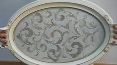 Meryem tekin tuzla yayla ismek Needlepoint, Cross Stitch, Tray, Embroidery, Hardanger, Sewing Patterns Free, Punto De Cruz, Seed Stitch, Cross Stitches