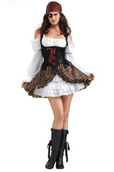 black popular sexy off shoulder pirate halloween costume 2014 cute halloween costumes - Pirate Halloween Costumes Women