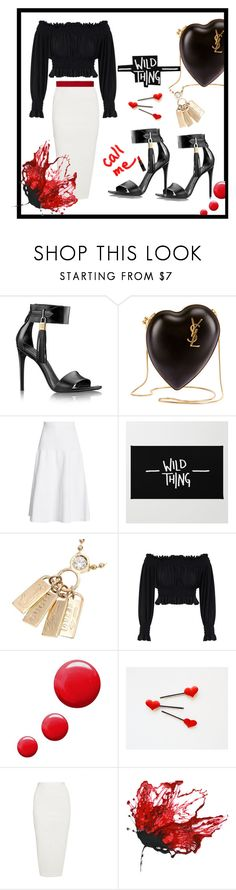 """Black&white"" by ellenfischerbeauty ❤ liked on Polyvore featuring Yves Saint Laurent, Victoria Beckham, Gucci, KamaliKulture, Topshop, Rick Owens, Paule Ka, YSL, blackandwhite and louisvuitton"