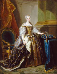 Jean-Baptiste van Loo - Portrait of Maria Leszczynska