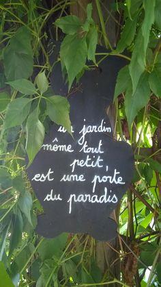 Un jardin ...