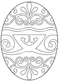 Pysanka Ukrainian Easter Egg coloring page from Easter category. Select from 24652 printable crafts of cartoons, nature, animals, Bible and many more.