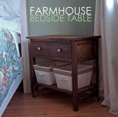 DIY Farmhouse bedside table