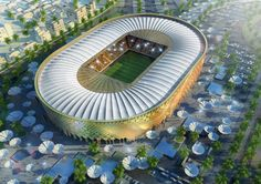 Speer's firm also submitted designs for the Qatar University Stadium in Doha,...