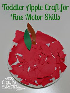 Toddler Apple Craft for Fine Motor Skills