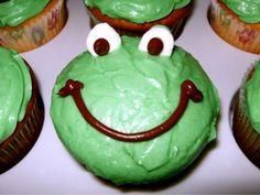 Froggie cupcakes