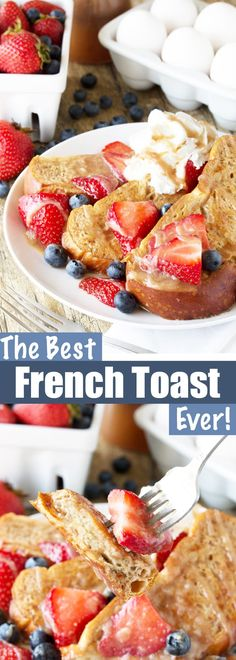 The Best French Toast Ever Get ready for the Best French Toast Ever! This french toast is made from challah bread and its freezable too so you can enjoy a gourmet french toast breakfast any day of the week! Source by stayathomechef Gourmet Breakfast, Breakfast Toast, Delicious Breakfast Recipes, Breakfast Items, Breakfast For Dinner, Breakfast Dishes, Best Breakfast, Brunch Recipes, Breakfast Healthy