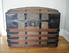 1872 Steamer Trunk  Dome Top Trunk  Camel Back by RustyNailDesign, $295.00