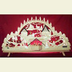 Wunderbarer, sehr großer Schwibbogen - Erzgebirgsbogen mit Figuren, Übergröße - 100x56x16cm. Perfekt für die traditionelle Weihnachts-Dekoration!