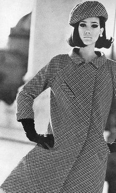 Marisa in a checked bias coat by Galitzine, photo by Henry Clarke, Vogue US 1965 | Flickr - Photo Sharing!