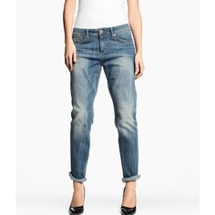 H Boyfriend Jeans ($46) ❤ liked on Polyvore