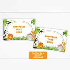 Printable Jungle Safari Food Tent Cards, Safari Buffet Food Labels, Jungle Place cards, Safari Jungle Birthday Place Cards, INSTANT DOWNLOAD