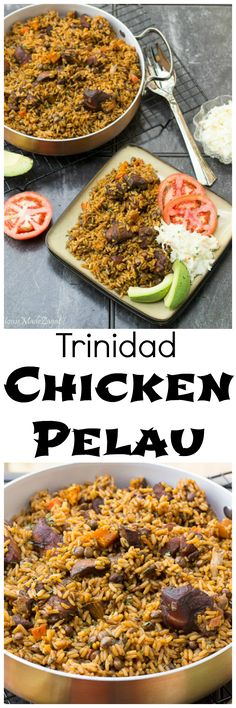 You Have Meals Poisoning More Normally Than You're Thinking That Trinidad Chicken Pelau: A Step By Step Guide On Making The Unofficial Trinidad National Dish, Pelau. A Hearty One Pot Dish Of Caramelized Chicken With Rice And Pigeon Peas. Carribean Food, Caribbean Recipes, Trinidad Caribbean, Healthy Chicken Recipes, Cooking Recipes, Roti, Trinidad Recipes, Trini Food, Chefs
