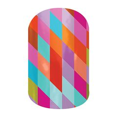Happy-Go-Lucky | Nail wraps by Jamberry Nails - Fun to coordinate  one or two nail colors to go  with design.