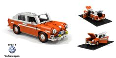 Volkswagen Type-3 Fastback | by lego911 Volkswagen Type 3, Vw, Lego Vehicles, Legos, Cars, Inspiration, Biblical Inspiration, Vehicles, Autos