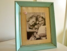 Tutorial Burlap Picture Frames