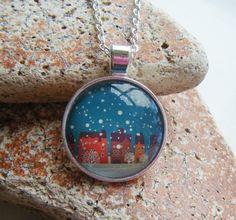 LET IT SNOW silver pendant necklace £6.00
