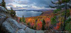 Lake Lila in the Whitney Wilderness area of the Adirondacks at autumn's peak