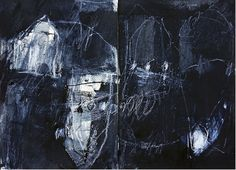 Mayako Nakamura - Tsugi no yoru (2012) Acrylic and charcoal on arches paper (260x360mm)
