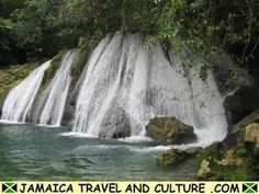 Port Antonio, Jamaica.  A mostly undeveloped natural area. A guide will lead you up the waterfalls and river into the jungle. You can swim in crystal clear pools along the way. Magnificent.