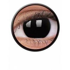 Lentile de contact colorate negre petrecere / halloween Crazy Blackout - http://lensa.ro/lentile-contact-colorate/crazy/crazy-blackout