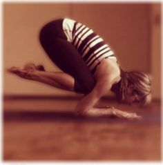 Very excited. Did this pose today. Next stop Full Crow and side crow nBaby crow » Yoga Pose Weekly