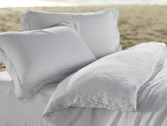 Relaxed Linen Bedding for Spring in four soothing colors  New   Coyuchi