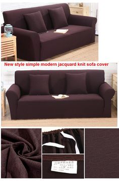 Sofa Beds New style jacquard knit sofa cover all inclusive simple modern sofa cover anti skid universal