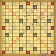 100% Scrabble Board Template | Scrabble board, Scrabble and Template