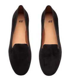 6e219f8ed59 Black. Loafers in imitation suede with grosgrain trim. Satin lining