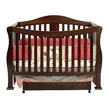"Choice #2 for crib: (Baby's ""R"" Us) DaVinci Parker 4-in-1 Crib with Toddler Rail - Coffee"