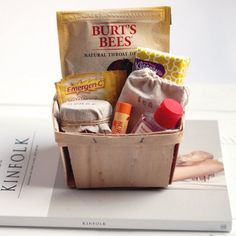 Create a get well basket to give to a friend or loved one that's not feeling well.