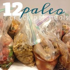 12 easy Paleo-ish crock pot meals Going to try 12 Paleo Crockpot Meals {Taco Chili, Thai Chicken Wings with Peanut Sauce, Italian Sausage with Peppers & Onions, White Chicken Chili, Honey Sesame Chicken, Teriyaki Chicken, Beef Stew, Southwest Chicken, Cheeseburger Soup, Mexican Fiesta Chicken, Spinach & Salsa Chicken, SW Flank Steak}