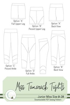 Photo Tutorial, Pdf Sewing Patterns, Line Drawing, Knitted Fabric, Casual Outfits, Tights, Knitting, Drawings, How To Wear