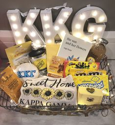 Sunshine/Yellow Big Little Sorority Basket Sunshine/Yellow Big Little Sorority BasketYou can find Big little and more on our website. Big Little Shirts, Big Little Sorority Shirts, Big Little Canvas, Big Little Week, Big Little Reveal, Sorority Canvas, Sorority Paddles, Sorority Crafts, Sorority Recruitment