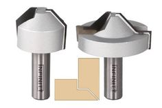 Lapped mitre router bits designed to create strong self-aligning mitre joints in plywood and MDF Simple Furniture, Plywood Furniture, Perfect Joint, Cabinet Boxes, Router Bits, Kitchen Cabinetry, Picture Frames, Cnc, Infinity