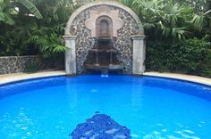Fountain with the pool Hotel Costa Coral, Tambor, Costa Rica #fun #vacation #family