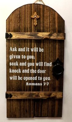 Rustic wooden Christian Gate wall hanging