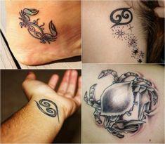 Tattoo Sternzeichen Krebs Handgelenk