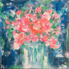 Blissful Blooms Acrylic Painting Abstract Style Painted on